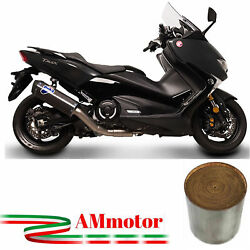 Termignoni Yamaha T-max 530 2018 18 Full Exhaust System Scream Carbon Approved