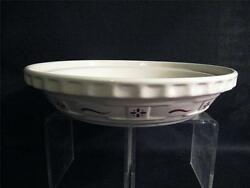 Longaberger Pottery Traditional Red Pie Pan Dish Plate - Usa