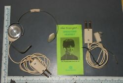 VINTAGE TELEPHONE OPERATOR HEADSET LOT SWITCH BOARD OPERATOR PHONE