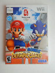 Mario And Sonic At The Olympic Games Game Complete Nintendo Wii