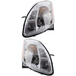 Headlight Set For 2005-2006 Nissan Maxima Left And Right Hid With Bulb 2pc
