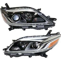 Headlight For 2015-2019 Toyota Sienna Pair Driver And Passenger Side Capa