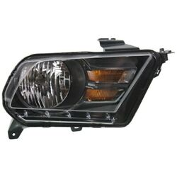 Headlight For 2010-2014 Ford Mustang Right Black Housing With Bulb