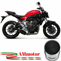Full Exhaust System Termignoni Yamaha Mt-07 2015 15 Relevance Carbon Approved