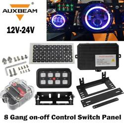 A Set of 8 Gang On-Off Control Switch Panel For Jeep Toyota Trucks UTV ATV Boats