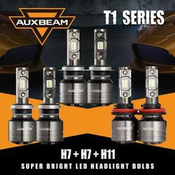 6PCS AUXBEAM H7+H7+H11 Canbus LED Headlight Fog Lamps Combo Temperature Control