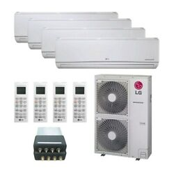 Lg Wall Mounted 4-zone System - 48000 Btu Outdoor - 9k + 9k + 9k + 18k Indoo...