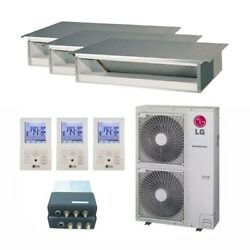 LG Concealed Duct 3-Zone LGRED° Heat System - 42000 BTU Outdoor - 12k + ...
