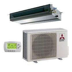 Mitsubishi - 24k BTU Cooling + Heating - P-Series Concealed Duct Air Conditio...