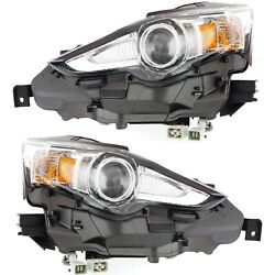 Hid Headlight Set For 2014-2015 Lexus Is250 Left And Right Pair