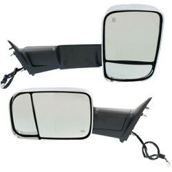 Tow Mirror Set For 2013 2018 Ram 1500 Left And Right Side Power Heat Puddle Light