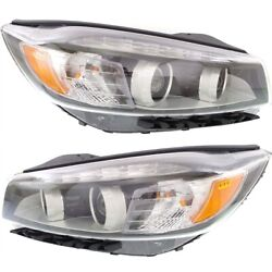 Headlight Set For 2016-2018 Kia Sorento Left And Right Led With Accent Light 2pc