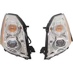 Headlight Set For 2006-2011 Cadillac Dts Left And Right Hid With Bulb 2pc