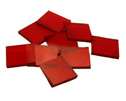 500 Ruby Red Cathedral 1/2 Squares | Hand Cut Glass Mosaic Tiles | Fusible 96