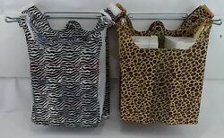 Design T-Shirt Bags Leopard or Zebra Print 11.5 x6x21 Shopping Bags with Handles