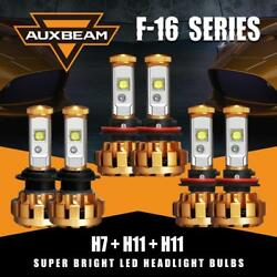 Auxbeam H7+H11+H11 3Sets Combo LED Headlight Fog Bulbs Kit for Ford Fusion 07-18