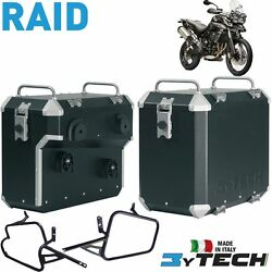 Pair Suitcases Aluminum Raid 41 +47 L And Frames Triumph 800 Tiger Xc And039 11and039/13