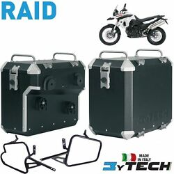 Pair Suitcases Aluminum Raid 41 +47 L And Frames Bmw 800 F Gs K72 And039 06and039/08