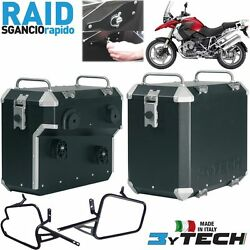 Pair Suitcases Aluminum Raid Quick 41+ 47+ Frames Bmw 1200 R Gs K25 And039 03and039/12