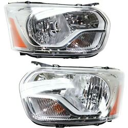 Headlight For 2015-2017 Ford Transit-350 Pair Driver And Passenger Side