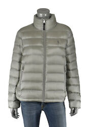 Womenand039s Polo Grey Quilted Down Puffer Jacket New