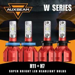Auxbeam H7 H11 CREE LED Headlight Canbus Decoder Bulbs Kit High Low Beam Combo