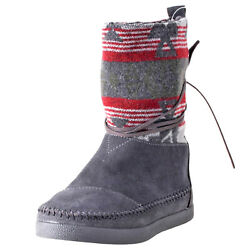 Toms Womens Nepal Boots Shoes 10004325 Grey Sz 6