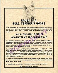 Rules In A Bull Terrier#x27;s House