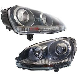 Hid Headlight Set For 2005-2010 Volkswagen Jetta Left And Right Pair