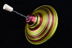 1970's Vtg Russian Soviet Old Spinning Top Tin Toy Kids Children Working Litho