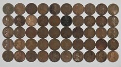 1920 D Lincoln Wheat Cent Penny 1c Culls 5 Full Rolls 250 Coins
