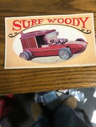 1970 Topps Way Out Wheels Original Proof Surf Woody