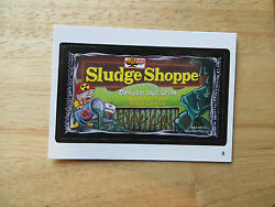 2004 WACKY PACKAGES ANS1 1ST SERIES SLUDGE SHOPPE CARD # 5 SIGNED JAY LYNCH POA