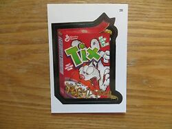 2004 WACKY PACKAGES ANS1 SERIES 1 TIX CEREAL CARD SIGNED JAY LYNCHPOA