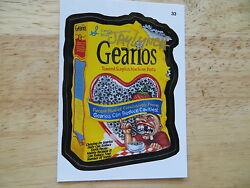 2004 WACKY PACKAGES ANS1 1ST SERIES GEARIOS CARD # 33 SIGNED JAY LYNCH ART