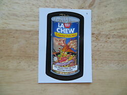 2004 WACKY PACKAGES ANS1 1ST SERIES LA CHEW CARD # 1 SIGNED JAY LYNCH ART