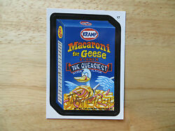 2004 WACKY PACKAGES ANS1 1ST SERIES MACARONI FOR GEESE CARD #17 SIGNED JAY LYNCH