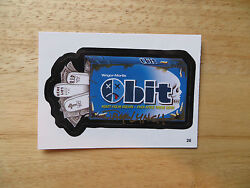 2004 WACKY PACKAGES ANS1 1ST SERIES OBIT CARD # 26 SIGNED JAY LYNCHPOA