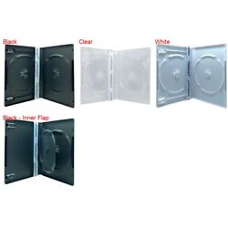 Premium Standard Double Dvd Cases 14mm 100 New Material Lot