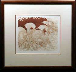 Guillaume Azoulay Regain Framed 1984 Intaglio Art Limited Ed. Horse Make Offer
