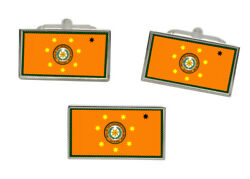 Cherokee Nation Tribe Flag Cufflink And Tie Pin Set