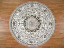 9and0391x9and0391 Silken Tebraz 300 Kpsi Round Hand Knotted Oriental Rug R44648