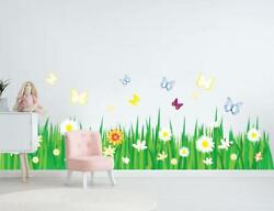 Garden Butterfly Border Decal Removable Wall Sticker Kids Nursery Decor WC237