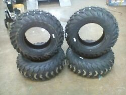 CARLISLE TRAIL WOLF TIRES 25X8R12 & 25X11R12 4 PLY COMPLETE SET NEW TAKE OFFS