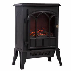 Bestmassage 1500w Free Standing Electric Fireplace - Fdwtbfp22black