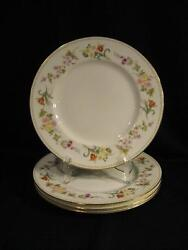 Wedgwood R4537 Mirabelle Dinner Plates - Four New, Never Used - Pristine