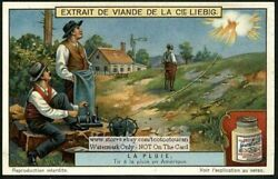 Making Artifical Cloud Rain Weather Climate 1920 Trade Ad  Card