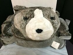 Pottery Barn Kids FAUX FUR Long SLEEPING BAG GRAY WOLF Holiday EASTER GIFT NW