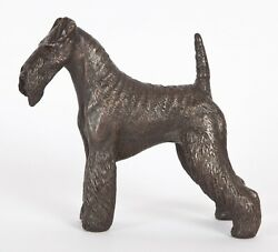 AIREDALE TERRIER COLD-CAST BRONZE  FIGURINE  6