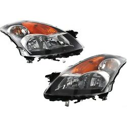 HID Headlight Set For 2008-2009 Nissan Altima Left & Right w/ Bulb(s) Pair